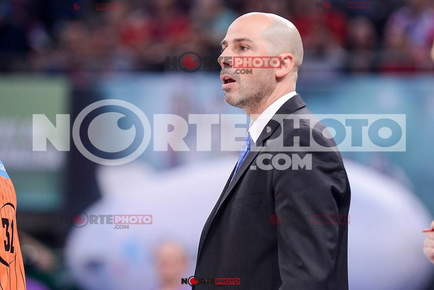 Morabanc Andorra's coach Joan Peñarroya during Quarter Finals match of 2017 King's Cup at Fernando Buesa Arena in Vitoria, Spain. February 16, 2017. (ALTERPHOTOS/BorjaB.Hojas) /Nortephoto.com