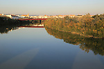 View of river late afternoon Rio Guadalquivir, Cordoba, Spain