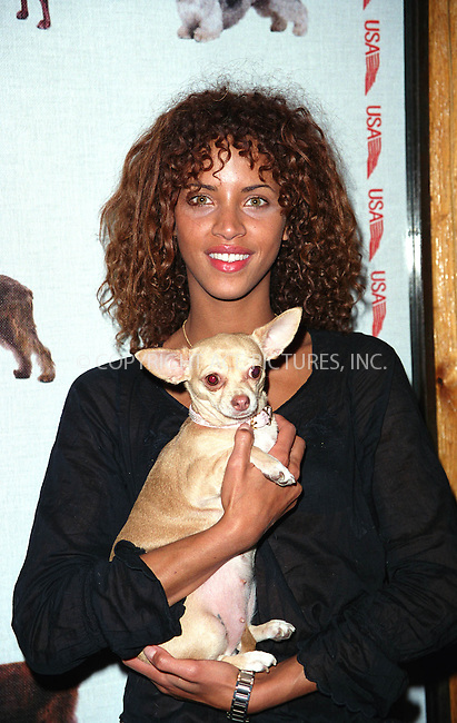 Model NOEMIE at the Westminster Kennel Club's Tea and Biscuits Benefit to honor the search and rescue dogs and their handlers who risked their lives at Ground Zero in the heroic efforts that took place following the World Trade Center tragedy. The American Park Restaurant in New York. February 6, 2002.  © 2002 by Alecsey Boldeskul/NY Photo Press.     ....*ONE-TIME REPRODUCTION RIGHTS*      ....NY Photo Press:  ..phone (646) 267-6913;   ..e-mail: info@nyphotopress.com