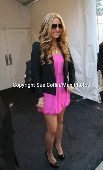Actress Amanda Bynes at Charlotte Ronson fashion show was held during Mercedes -Benz Fashion Week New York Fall 09 on February 13, 2009 in Bryant Park, New York City, NY. (Photo by Sue Coflin/Max Photos)