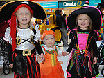 Aimee, Shauna and Georgia Rice at the Halloween celebrations at Drogheda Town Centre. Photo:Colin Bell/pressphotos.ie
