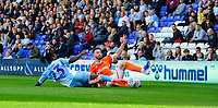 Blackpool's James Husband vies for possession with Coventry City's Fankaty Dabo<br /> <br /> Photographer Chris Vaughan/CameraSport<br /> <br /> The EFL Sky Bet League One - Coventry City v Blackpool - Saturday 7th September 2019 - St Andrew's - Birmingham<br /> <br /> World Copyright © 2019 CameraSport. All rights reserved. 43 Linden Ave. Countesthorpe. Leicester. England. LE8 5PG - Tel: +44 (0) 116 277 4147 - admin@camerasport.com - www.camerasport.com