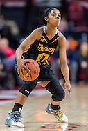 College Park, MD - DEC 6, 2016: Towson Tigers guard Raine Bankston (10) brings the ball up court during game between Towson and Maryland at XFINITY Center in College Park, MD. The Terps defeated the Tigers 97-63. (Photo by Phil Peters/Media Images International)