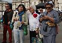 People congregate in Trafalgar Square, London, for the 10th Japanese Matsuri Festival.