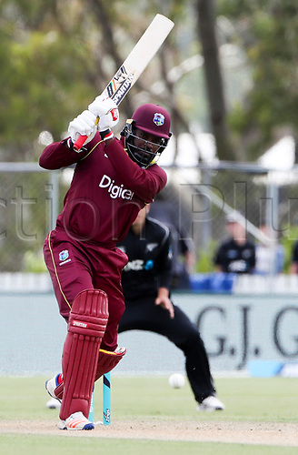 20th December, 2017, Whangarei, New Zealand;  Chris Gayle. New Zealand Black Caps versus West Indies, first One Day International cricket, Cobham Oval, Whangarei, New Zealand. Wednesday, 20 December, 2017.