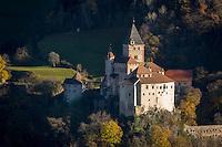 Italy, Alto Adige - Trentino (South Tyrol), Ponte Gardena: Castle Trostburg near Ponte Gardena at Valle Isarco   Italien, Suedtirol (Alto Adige-Trentino), Waidbruck: Die Trostburg bei Waidbruck im Eisacktal