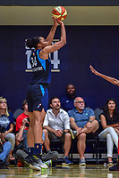 Washington, DC - August 31, 2018: Atlanta Dream center Imani McGee-Stafford (34) shoots an open jump shot during semi finals playoff game between Atlanta Dream and Wasington Mystics at the Charles Smith Center at George Washington University in Washington, DC. (Photo by Phil Peters/Media Images International)