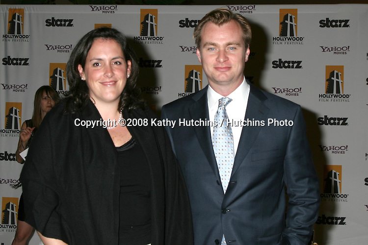Christopher Nolan & wife Emma Thomas  arriving to the Hollywood Film Festival Awards Gala at the Beverly Hilton Hotel in Beverly Hills, CA  on.October 27, 2008.©2008 Kathy Hutchins / Hutchins Photo...                .
