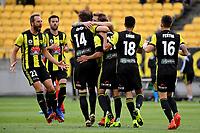 Wellington Phoenix Team Celebrate goal A League - Wellington Phoenix v Melbourne City FC at Westpac Stadium, Wellington, New Zealand on Saturday 26 January 2019. <br /> Photo by Masanori Udagawa. <br /> www.photowellington.photoshelter.com