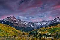 Dusk, Sunset, Aspen, Mount Sneffels, Dallas Divide, Uncompahgre National Forest, Colorado .psd