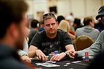 End of Day 1 chip leader Kim Frederiksen