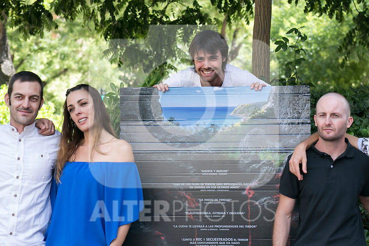 """The actors of the movie at the photocall of the presentation of the horror movie """"La Cueva"""" (The Cave) in Madrid. Spain. Jul 08, 2014. (ALTERPHOTOS/Carlos Dafonte)"""