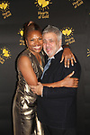 Deborah Koenigsberger - Founder & CEO of Hearts of Gold annual All That Glitters Gala - 24 years of support to New York City's homeless mothers and their children - (VIP Reception - Silent Auction) poses with Lawrence Konner November 7, 2018 at Noir et Blanc and the 40/40 Club in New York City, New York.  (Photo by Sue Coflin/Max Photo)