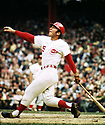 CIRCA 1970:  Johnny Bench #5, of the Cincinnati Reds, at bat during  a game from his 1970 season.  Johnny Bench played for 17 seasons, all with the Cincinnati Reds. Johnny Bench was a 14 -time All-Star, 2-time National League MVP and was inducted to the Baseball Hall of Fame in 1989. (Photo by: 1970  SportPics  )  Johnny Bench