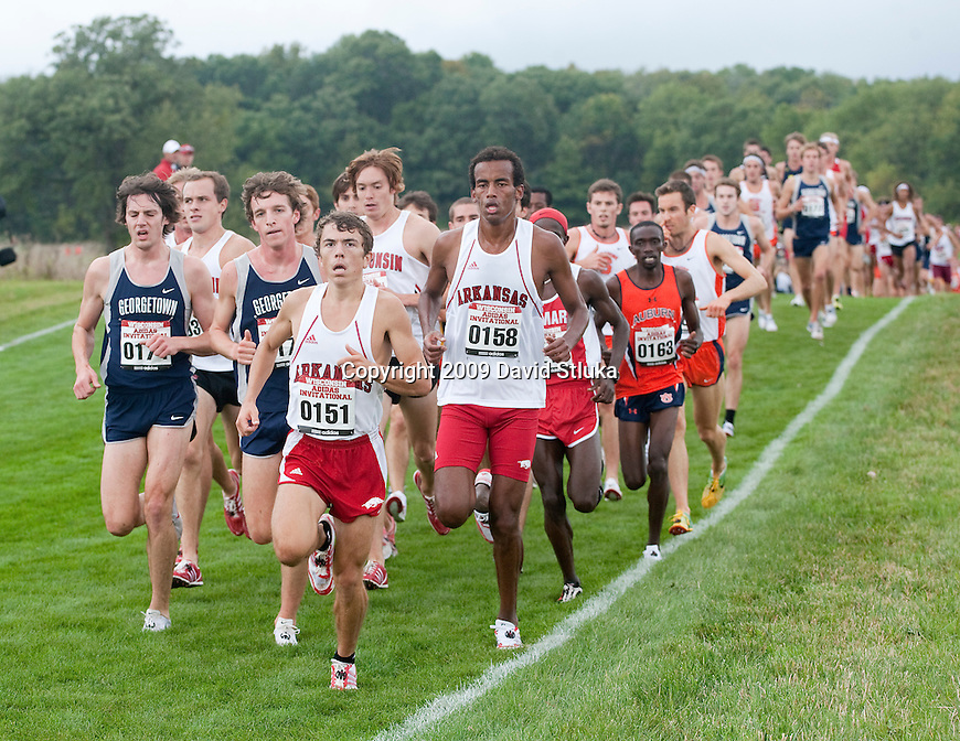 October 3, 2009: Cross country runners compete in the Wisconins Adidias Invitational at the Thomas Zimmer Championship Cross Country Course at University Ridge in Madison, Wisconsin on October 3, 2009. (Photo by David Stluka)