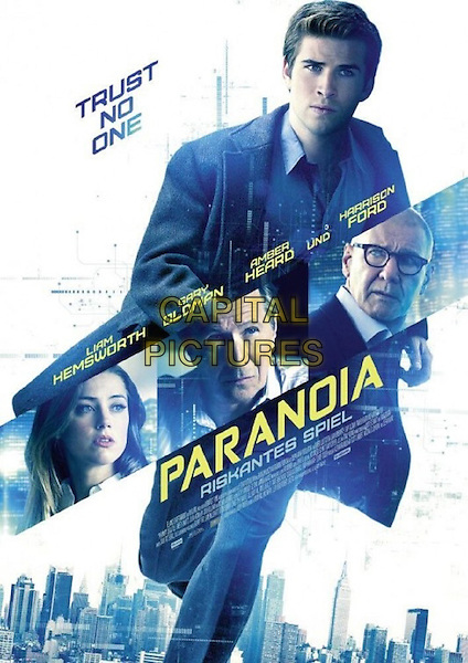 GERMAN POSTER ART<br /> in Paranoia (2013) <br /> *Filmstill - Editorial Use Only*<br /> CAP/FB<br /> Image supplied by Capital Pictures