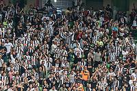 BELO HORIZONTE, MG, 07 JUNHO 2013 - CAMPEONATO BRASILEIRO - ATLÉTICO MG X CRICIUMA -  Torcedores do Atlético Mineiro comemoram o gol de Alecsandro durante  partida contra o Criciuma, jogo válido pela06º rodada doCampeonato brasileiro 2013, no estádio Independencia em Belo Horizonte, na tarde deste Domingo, 07. (FOTO: NEREU JR / BRAZIL PHOTO PRESS).