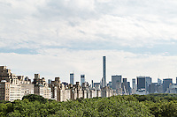 View of Central Park East and South from the roof of the Metropolitan Museum of Art. New York, New York.