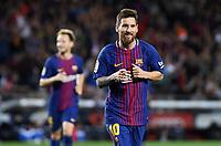 BARCELONA, 09-09-2017. LaLiga 2017/ 2018, date 3. FC Barcelona 5-0 RCD Espanyol. Lionel Messi of FC Barcelona celebrates his goal. Foto Sergio Ruiz/ProShots/Insidefoto
