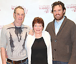 Nigel Gore, Tina Packer & director Eric Tucker attending the Meet & Greet for Tina Packer's 'Women of Will' at The Gym at Judson in New York City on 1/16/2013