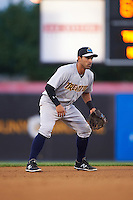 Trenton Thunder shortstop Ali Castillo (13) during a game against the Binghamton Mets on August 8, 2015 at NYSEG Stadium in Binghamton, New York.  Trenton defeated Binghamton 4-2.  (Mike Janes/Four Seam Images)