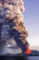 Rabaul volcano, or Tavurvur volcano, August 29, 2014 eruption, Rabaul, East New Britain, Papua New Guinea, Pacific Ocean