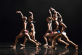 London, UK. 10 May 2016. 28 dancers from Rambert and the Rambert School of Ballet and Contemporary Dance perform a revial of A Linha Curva by Itzik Galili at Sadler's Wells Theatre. The Rambert Triple Bill  Murder, Mystery and a Party - A Linha Curva plus other works runs from 10 to 14 May 2016. Editorial Use Only.