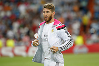 Sergio Ramos of Real Madrid during the Champions League group B soccer match between Real Madrid and FC Basel 1893 at Santiago Bernabeu Stadium in Madrid, Spain. September 16, 2014. (ALTERPHOTOS/Caro Marin) /NortePhoto.com