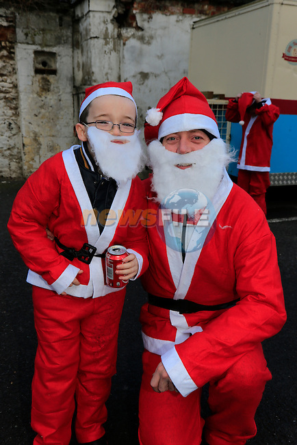 Rory Owens and Corey McCarthy at the Drogheda Christmas Bonanza santa parade<br /> Picture: Fran Caffrey www.newsfile.ie