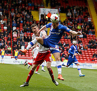 Sheffield United v Gillingham .Sky Bet League 1 ....... gillinghams brennan dickenson with uniteds chris basham