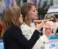 NEW YORK, NY - NOVEMBER 14: Natalie Morales seen having a pizza on Access Hollywood in New York City on November 14, 2017. Credit: RW/MediaPunch