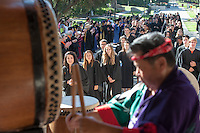 Taiko drums during Occidental College's 127th annual Convocation ceremony on August 28, 2013. (Photo by Marc Campos, Occidental College Photographer)