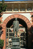 Statue of Henry Flagler at Flagler College, in historic Ponce De Leon Hotel (1885), St. Augustine. Saint Augustine, Florida.