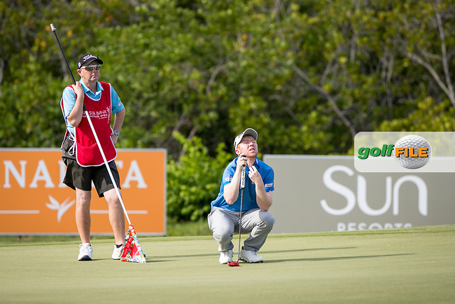 Gavin Moynihan (IRL) on the 7th during the 3rd round of the AfrAsia Bank Mauritius Open, Four Seasons Golf Club Mauritius at Anahita, Beau Champ, Mauritius. 01/12/2018<br /> Picture: Golffile | Mark Sampson<br /> <br /> <br /> All photo usage must carry mandatory copyright credit (&copy; Golffile | Mark Sampson)