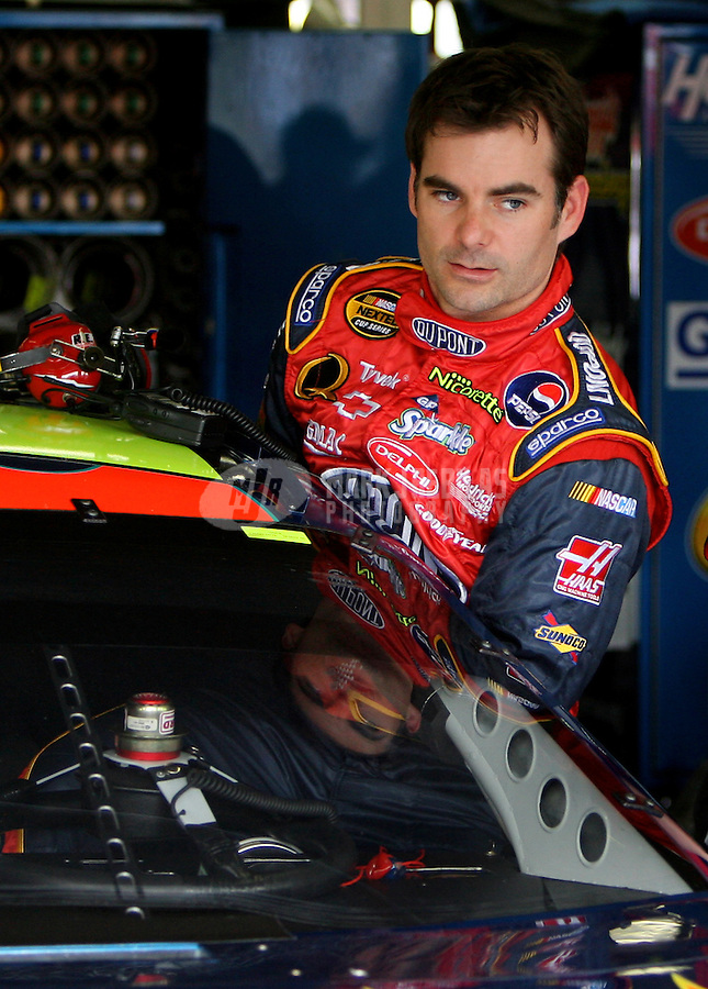 May 27, 2006; Charlotte, NC, USA; Nascar Nextel Cup driver Jeff Gordon (24) during practice for the Coca Cola 600 at Lowes Motor Speedway. Mandatory Credit: Mark J. Rebilas.
