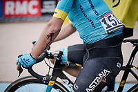 crash victim Davide BALLERINI (ITA/Astana) reaches the velodrome<br /> <br /> 117th Paris-Roubaix 2019 (1.UWT)<br /> One day race from Compiègne to Roubaix (FRA/257km)<br /> <br /> ©kramon
