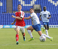 Fleetwood Town's Ashley Hunter \gets a shot on goal<br /> <br /> Photographer Mick Walker/CameraSport<br /> <br /> Football Pre-Season Friendly - Tranmere Rovers  v Fleetwood Town  - Saturday 21st July 2018 - Prenton Park - Tranmere<br /> <br /> World Copyright &copy; 2018 CameraSport. All rights reserved. 43 Linden Ave. Countesthorpe. Leicester. England. LE8 5PG - Tel: +44 (0) 116 277 4147 - admin@camerasport.com - www.camerasport.com
