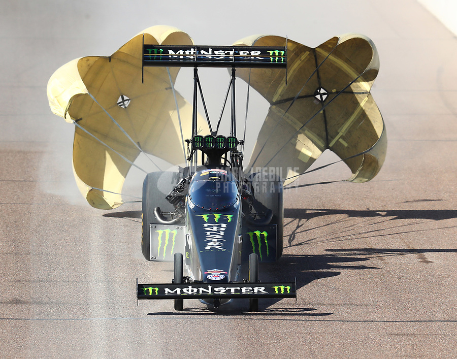 Feb 24, 2018; Chandler, AZ, USA; NHRA top fuel driver Brittany Force during qualifying for the Arizona Nationals at Wild Horse Pass Motorsports Park. Mandatory Credit: Mark J. Rebilas-USA TODAY Sports
