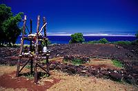 Puu O Mahuka heiau ( Hawaiian temple) at Pupukea, Island of Oahu