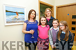 Artist Mary Carney with her painting 'admiring the view' and Grace Carney, Kate Sweeney MIllie O'Halloran, mary Sweeney at the Tralee Art Group Summer Soiree night of Art and Music at Baile Mhuire Centre on Thursday