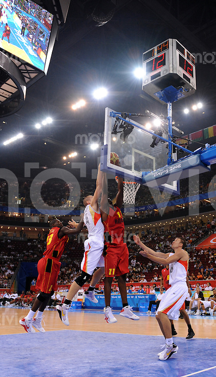 Olympia 2008  Peking  10.08.2008 Basketball, GER-ANG:  Feature Olympic Basketball Gynasium Peking.