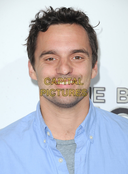"""Jake Johnson.""""The Book of Mormon"""" Hollywood Opening night Held At The Pantages theatre, Hollywood, California, USA..September 12th, 2012.headshot portrait blue shirt stubble facial hair .CAP/DVS.©DVS/Capital Pictures."""