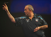04.01.2015.  London, England.  William Hill PDC World Darts Championship.  Finals Night.  Phil Taylor (2) [ENG] in action against Gary Anderson (4) [SCO]