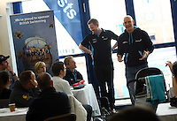 PICTURE BY VAUGHN RIDLEY/SWPIX.COM...Swimming - British Gas Great Salford Swim 2011- Salford Quays, Manchester, England - 15/05/11...VIP Room. Duncan Goodhew.