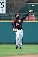 Rochester Red Wings center fielder Max Kepler (25) throws the ball to second base against the Scranton Wilkes-Barre Railriders on May 1, 2016 at Frontier Field in Rochester, New York. Red Wings won 1-0.  (Christopher Cecere/Four Seam Images)