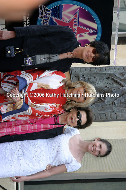 Tina Sinatra,  Nancy Sinatra, Nancy Sinatra Sr and AJ (Nancy Jr's Daughter).Nancy Sinatra receives a star on the Hollywood Walk of Fame.Los Angeles, CA.May 11, 2006.©2006 Kathy Hutchins / Hutchins Photo....