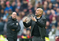 Manchester City manager Pep Guardiola  during the EPL - Premier League match between West Ham United and Manchester City at the Olympic Park, London, England on 29 April 2018. Photo by Andrew Aleksiejczuk / PRiME Media Images.