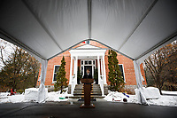 PM Trudeau speaks with media during his isolation at Rideau Cottage. March 17, 2020.