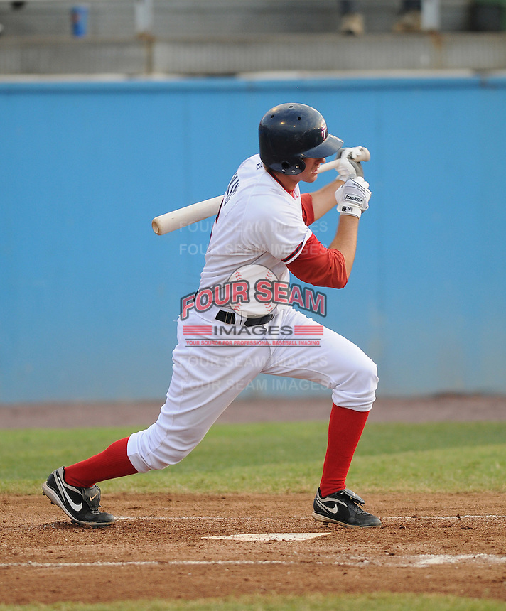 July 16, 2009: Infielder Stephen King (6) of the Potomac Nationals, Carolina League affiliate of the Washington Nationals, before a game at G. Richard Pfitzner Stadium in Woodbridge, Va. Photo by:  Tom Priddy/Four Seam Images