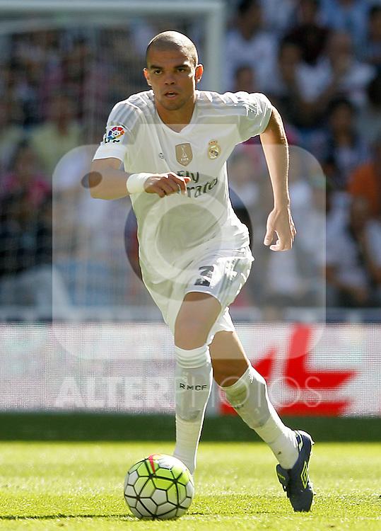 Real Madrid's Pepe during La Liga match. September 19,2015. (ALTERPHOTOS/Acero)